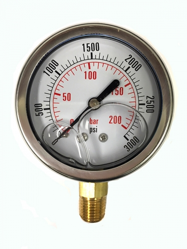 3000 Psi Pressure Gauge Cf1p 240a