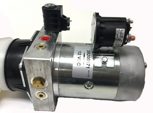 12 VDC    Electric    Over Hydraulic Single Acting Power Unit by MTE Hydraulics