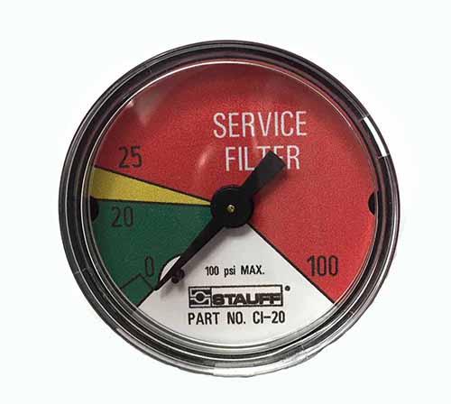 Stauff Ci 20 Pressure Gauge Indicator Clogging Indicator
