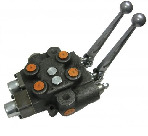 Double spool valve cross hydraulic control valve for Hydraulic motor spool valve