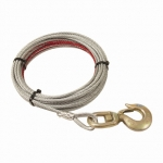 "Pierce Winch Cable, 3/8"" X 75 Swivel Hook (PS0362SS)"