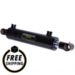 "2.5"" Bore X 12"" Stroke Welded Cross Tube Mount Cylinder"