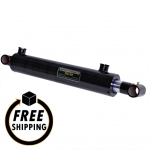 "2.5"" Bore X 28"" Stroke Welded Cross Tube Mount Cylinder"