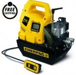 Enerpac ZU4408LB Portable Electric Pump, VM43, 115V, LCD, 8L