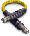 Enerpac High Pressure Hydraulic Hose H-7202, 2 ft. Yellow Thermo-Plastic, .25 in. diameter