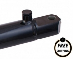 "2.5"" Bore X 12"" Stroke Welded Tang Hydraulic Cylinder"