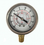 "Compound Pressure Gauge 30 Hg""-30PSI, CF1C-002A"