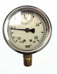 "Compound Pressure Gauge 30 Hg""-60PSI, Wika 9767029"