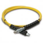 Enerpac High Pressure Hydraulic Hose HB-7206QB, 6 ft. Yellow Thermo-Plastic, .25 in. diameter