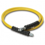 Enerpac High Pressure Hydraulic Hose HB-7206, 6 ft. Yellow Thermo-Plastic, .25 in. diameter