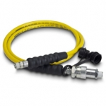 Enerpac High Pressure Hydraulic Hose HC-7206B, 6 ft. Yellow Thermo-Plastic, .25 in. diameter