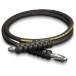 Enerpac High Pressure Hydraulic Hose HB-9206Q, 6 ft. Heavy-Duty Rubber, .25 in. Diameter