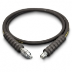 Enerpac High Pressure Hydraulic Hose HA-9206, 6 ft. Heavy-Duty Rubber, .25 in. Diameter