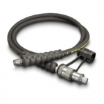 Enerpac High Pressure Hydraulic Hose HC-9203B, 3 ft. Heavy-Duty Rubber, .25 in. Diameter
