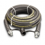 Enerpac High Pressure Hydraulic Hose HC-9250C, 50 ft. Heavy-Duty Rubber, .25 in. Diameter