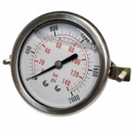 2,000 PSI Back Mount Pressure Gauge, CF1P-140B