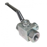 "3-Way High Pressure Ball Valve with 1/4"" SAE Ports, GE3SAE4"
