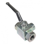 "3-Way High Pressure Ball Valve with 1/4"" NPT Ports, GE3N1/4"