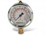 "Enerpac G2509L Hydraulic Pressure Gauge, 2.50"" Display Face, 100 PSI, Glycerin Filled"