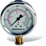 "Enerpac G2513L Hydraulic Pressure Gauge, 2.50"" Display Face, 600 PSI, Glycerin Filled"