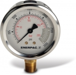 "Enerpac G2516L Hydraulic Pressure Gauge, 2.50"" Display Face, 3000 PSI, Glycerin Filled"