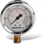"Enerpac G2517L Hydraulic Pressure Gauge, 2.50"" Display Face, 6000 PSI, Glycerin Filled"