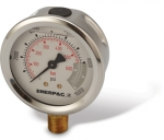 "Enerpac G2535L Hydraulic Pressure Gauge, 2.50"" Display Face, 10000 PSI, Glycerin Filled"