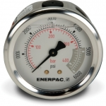 "Enerpac G2534R Hydraulic Pressure Gauge, 2.50"" Display Face, 6000 PSI, Glycerin Filled, Center Rear Mount"