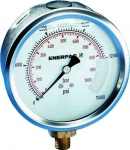 "Enerpac G4088L Hydraulic Pressure Gauge, 4"" Display Face, 10000 PSI, Glycerin Filled, Lower Mount"