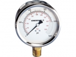 "Enerpac G4040L Hydraulic Pressure Gauge, 4"" Display Face, 15000 PSI, Glycerin Filled, 1/2"" NPT Lower Mount"