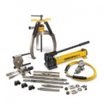 Enerpac LGHMS-364H 64 Ton Hydraulic Lock Grip Master Puller Set with Hand Pump 3 Jaw