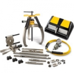 Enerpac LGHMS-364A 64 Ton Hydraulic Lock Grip Master Puller Set with Air Pump 3 Jaw