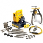 Enerpac LGHMS-364EE 64 Ton Hydraulic Lock Grip Master Puller Set with 230V Electric Pump 3 Jaw