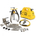 Enerpac LGHMS-364CE 64 Ton Hydraulic Lock Grip Puller Set with 230V Cordless Pump 3 Jaw