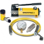 Enerpac SCR-55H 5 Ton 5 in Stroke Hydraulic Cylinder and Hand Pump Set