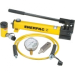 Enerpac SCR-106H 10 Ton 6.13 in Stroke Hydraulic Cylinder and Hand Pump Set