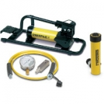 Enerpac SCR-106FP 10 Ton 6.13 in Stroke Hydraulic Cylinder and Foot Pump Set