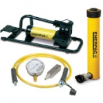 Enerpac SCR-1010FP 10 Ton 10.13 in Stroke Hydraulic Cylinder and Foot Pump Set