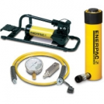 Enerpac SCR-254FP 25 Ton 4 in Stroke Hydraulic Cylinder and Foot Pump Set