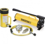 Enerpac SCR-506H 50 Ton 6.25 in Stroke Hydraulic Cylinder and Hand Pump Set