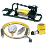 Enerpac SCL-201FP 20 Ton 1.75 in Stroke Low Height Hydraulic Cylinder and Foot Pump Set