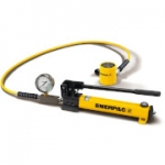 Enerpac SCL-302H 30 Ton 2.44 in Stroke Low Height Hydraulic Cylinder and Hand Pump Set