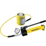 Enerpac SCL-502H 50 Ton 2.38 in Stroke Low Height Hydraulic Cylinder and Hand Pump Set