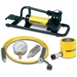 Enerpac SCL-502FP 50 Ton 2.38 in Stroke Low Height Hydraulic Cylinder and Foot Pump Set