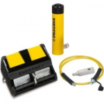 Enerpac SCL-502XA 50 Ton 2.38 in Stroke Low Height Hydraulic Cylinder and Air Pump Set