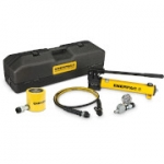Enerpac SCL-502TB 50 Ton 2.38 in Stroke Low Height Hydraulic Cylinder and Hand Pump Set