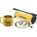 Enerpac SCL-1002H 100 Ton 2.25 in Stroke Low Height Hydraulic Cylinder and Hand Pump Set