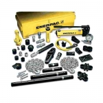 Enerpac MS2-1020 Hydraulic Cylinder & Hand Pump Set with 3 Cylinders and 53 Attachements, 12.5-ton Capacity