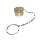 "Parker 6108-08, 3/4"", Brass Dust Cap with Steel Chain"