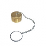 "Parker 6108-16, 1"", Brass Dust Cap with Steel Chain"